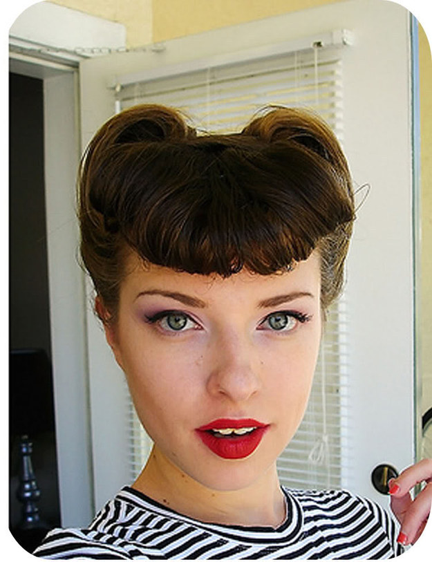 victory roll hair style 32 vintage hairstyle tutorials you should not miss 6390