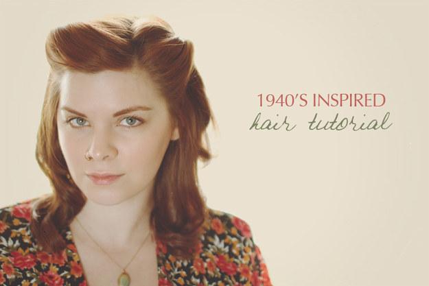 An Easy 1940s Pinback Hairdo