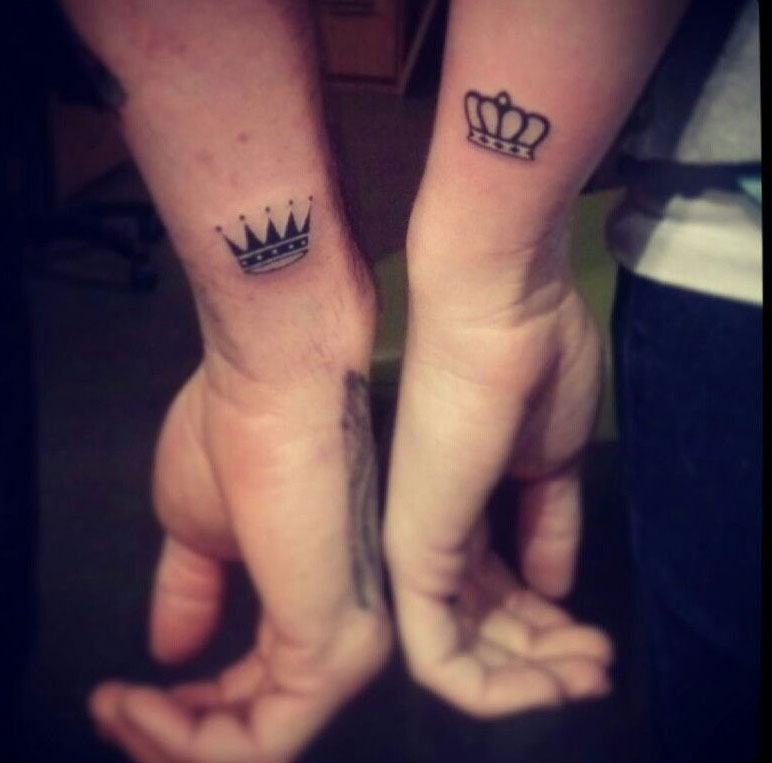 Incredibly Creative Couples  Crown Tattoos