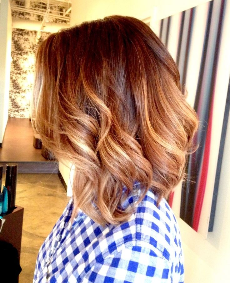 Everyday Hairstyles for Wavy Hair: Ombre Medium Hair
