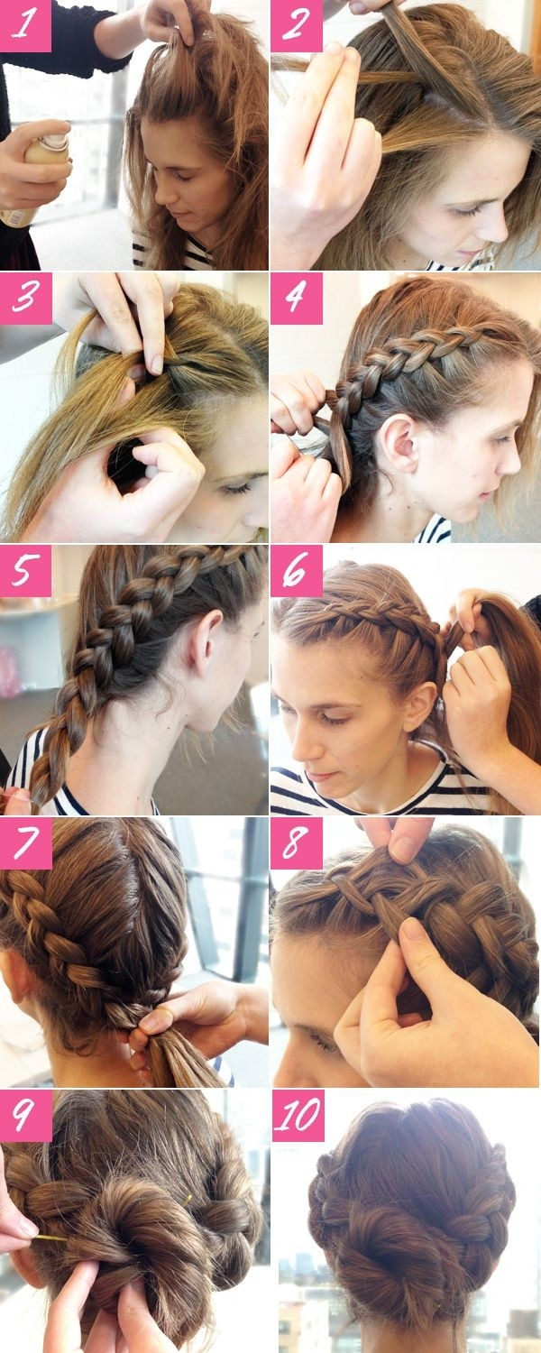 Captivating 2014 Holiday Hairstyles: Cute Braided Updos For Long Hair Tutorial