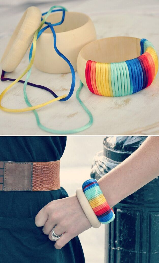 An Ombre Wrapped Cuff