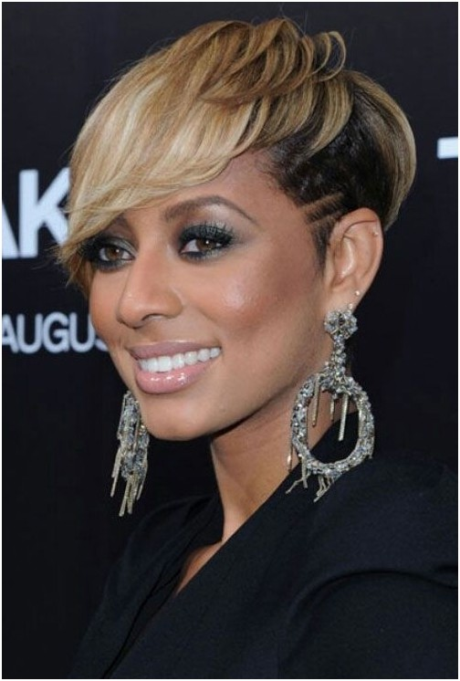 Black Women Short Hairdos: Blonde Pixie Hair Cut