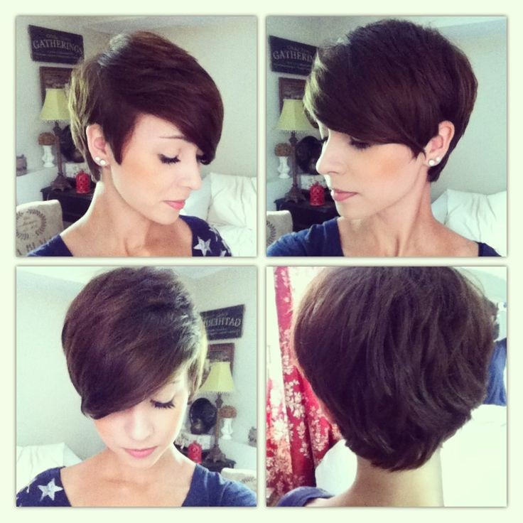 Bouncy Pixie Haircuts: Side, Front and Back View