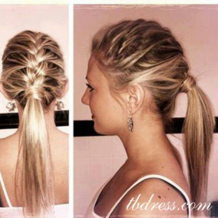 2015 Pretty Braided Low Ponytail Hairstyle