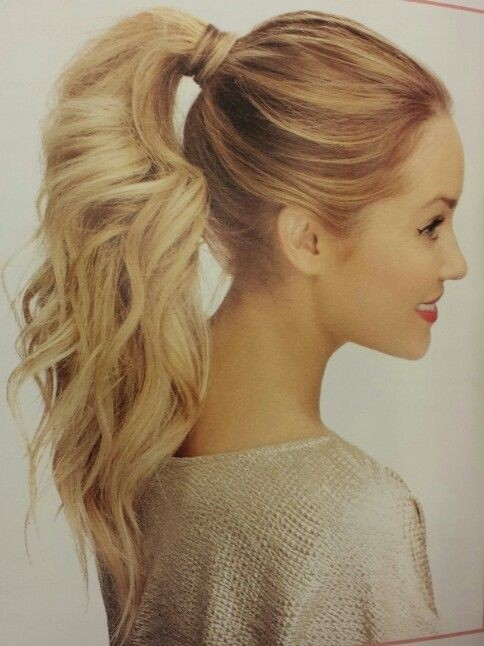 Chic High Wavy Ponytail