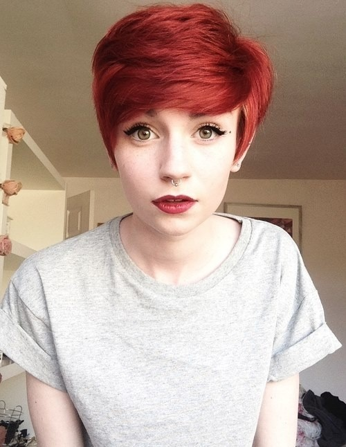 Cute Red Pixie Haircut: Girls Hairstyles Trends