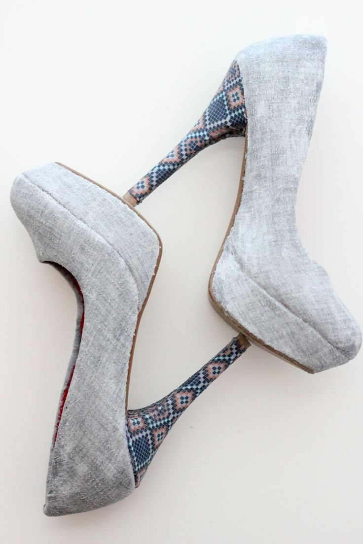 DIY Fabric Covered Heels