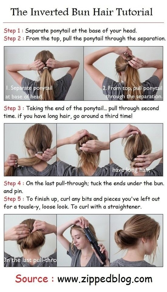 Everyday Hairstyles Tutorials: Inverted Bun Updos