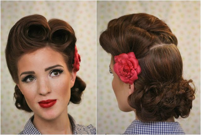 Romantic Retro-chic Hairtyle
