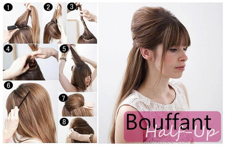 Pretty Half-up Half Down Hairstyel Tutorial