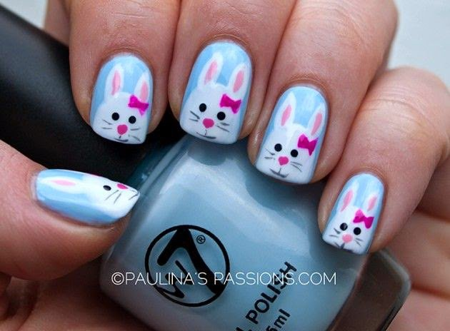 Lovely Bunny Nail Design