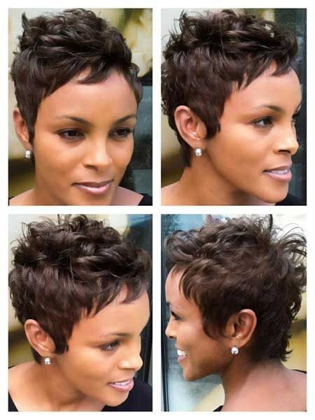 Pixie Haircut for African American Women