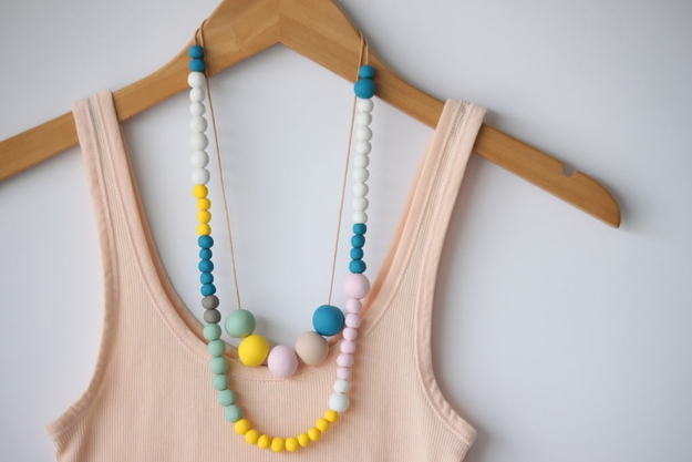 Polymer Clay Bead Necklaces