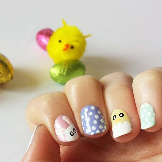 Pretty Spring Nail Design Idea