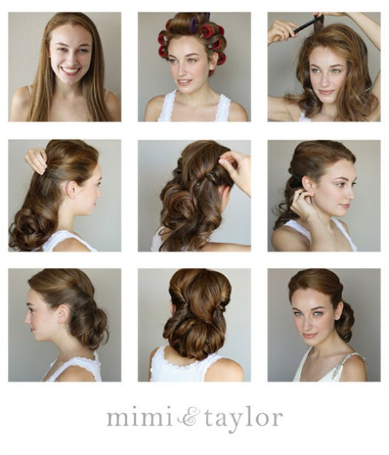 Fashionable Vintage Updo Hairstyle Tutorial