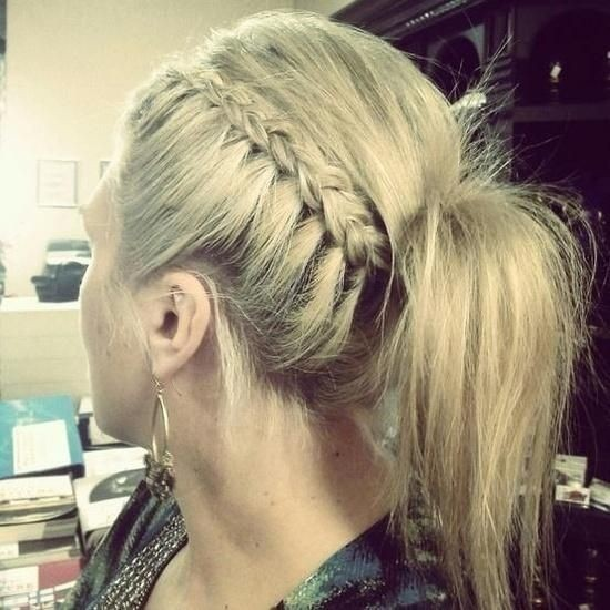 Lovely Braided Ponytail for 2015