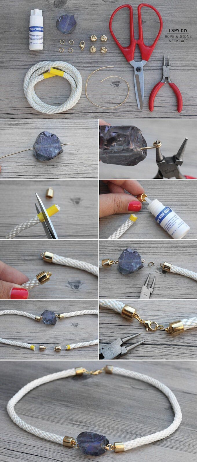 Stone Rope Necklace