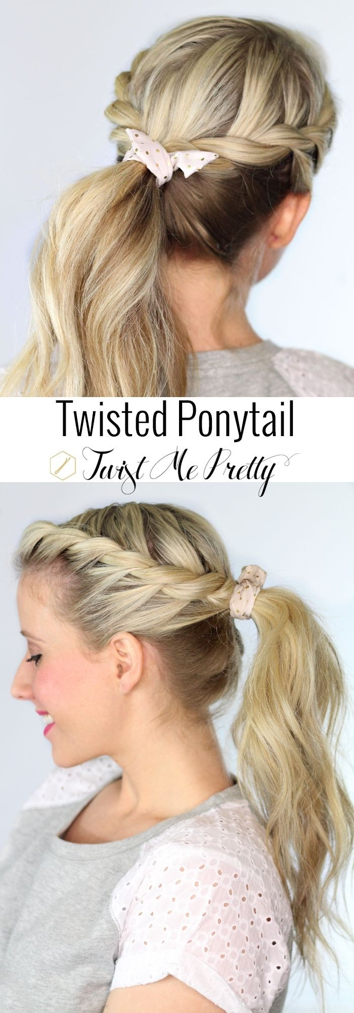 Pretty Twisted Ponytail Hairstyle