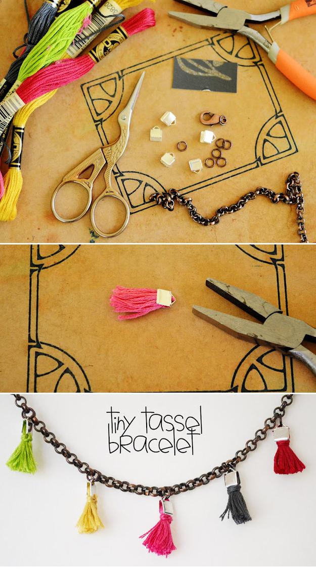 Tiny Tassel Bracelet