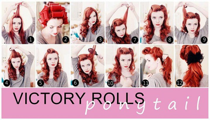 Retro-chic Curly Hairstyle Tutorial