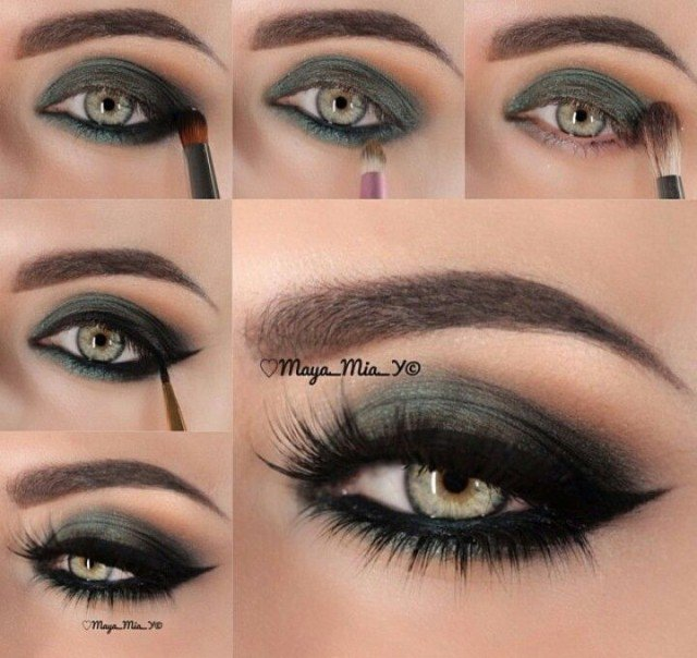 16 makeup for green eyes
