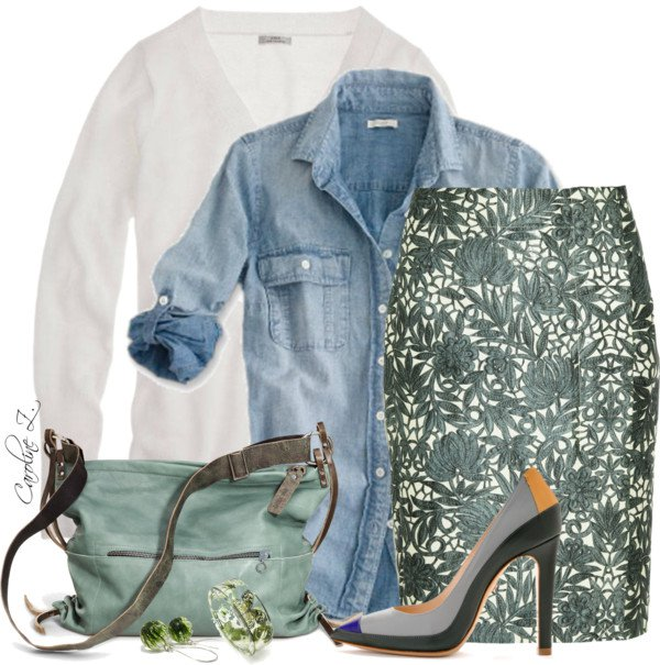 easter-outfit-with-denim-blouse