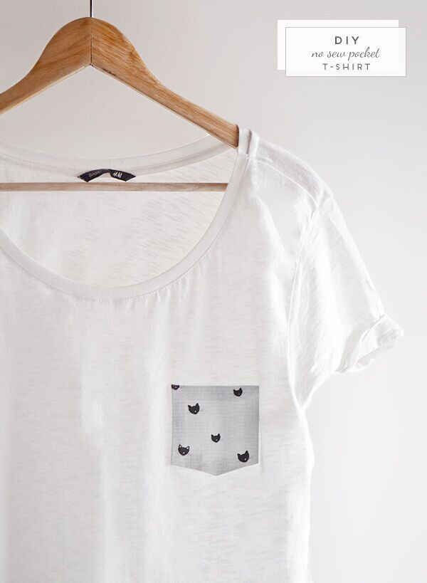 Add a cute pocket to your favorite white tee