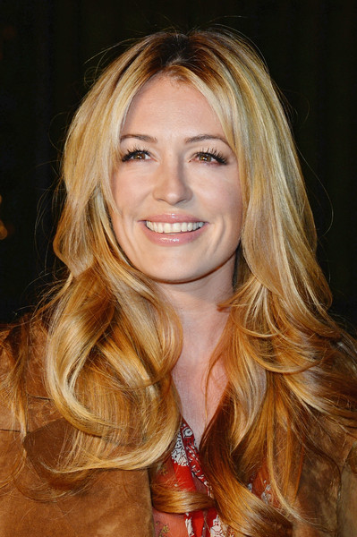 Cat Deeley Long Center-parted Wavy Cut