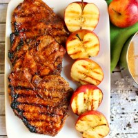 Cider glazed pork chops