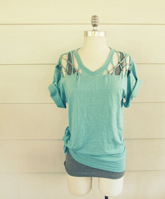 Cool lattice tee: Diy Clothes for Summer