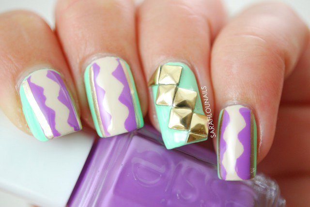 Cool Pastel Nail Design Idea