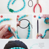DIY Convertible Necklace Headband