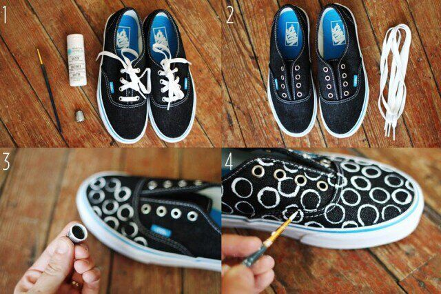 DIY Painted Sneakers