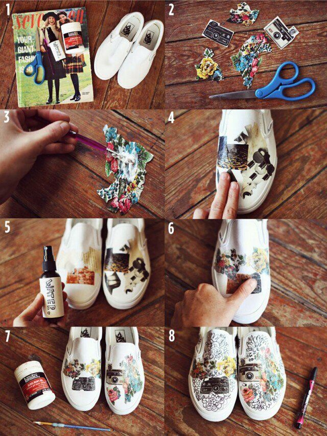 DIY Printed Sneakers