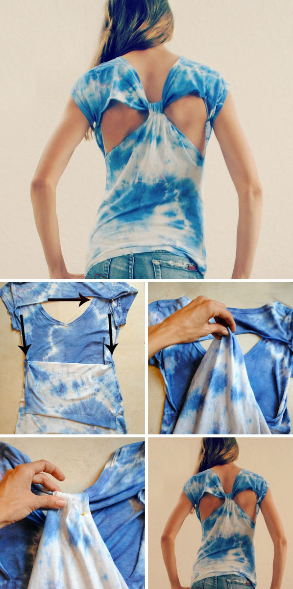 Diy Cut Out Back T-shirt
