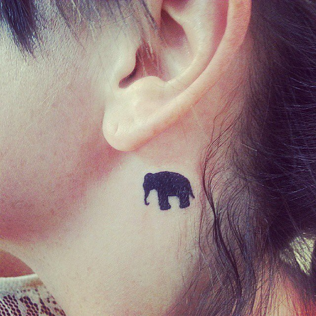 46 small tattoos designs for women tiny tattoos for for Tiny elephant tattoo