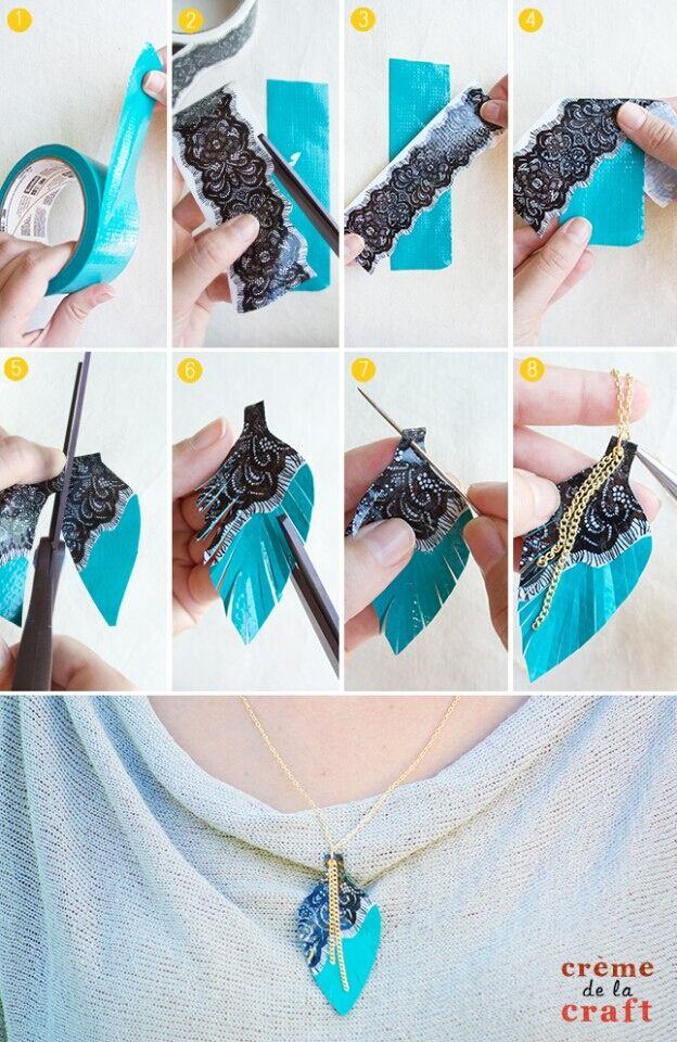 Fashion Feather Necklace Crafts