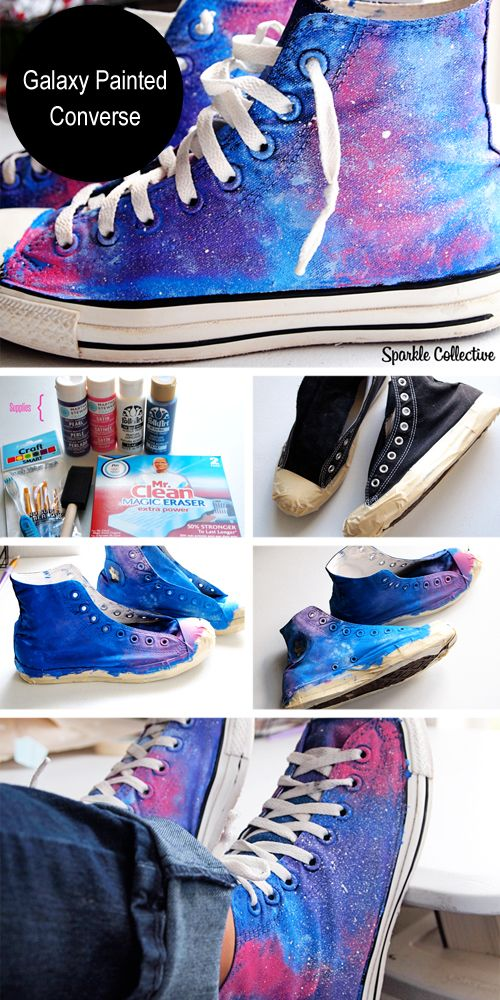 Galaxy Painted Converse - DIY Sneakers Ideas