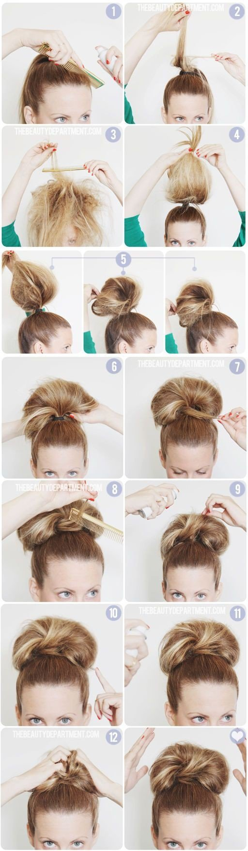 Interesting Huge Bun Hairstyle Tutorial