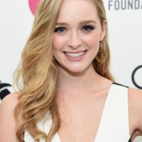 Greer Grammer Side-parted Blonde Long Curls