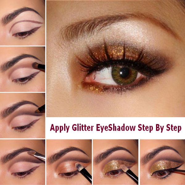 Fashionable Bronze Shimmer Eye Makeup Tutorial