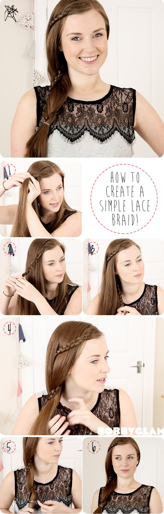 Sweet Lace Braided Hairstyle