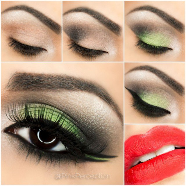 Fresh Green Smoky Eye Makeup Tutorial