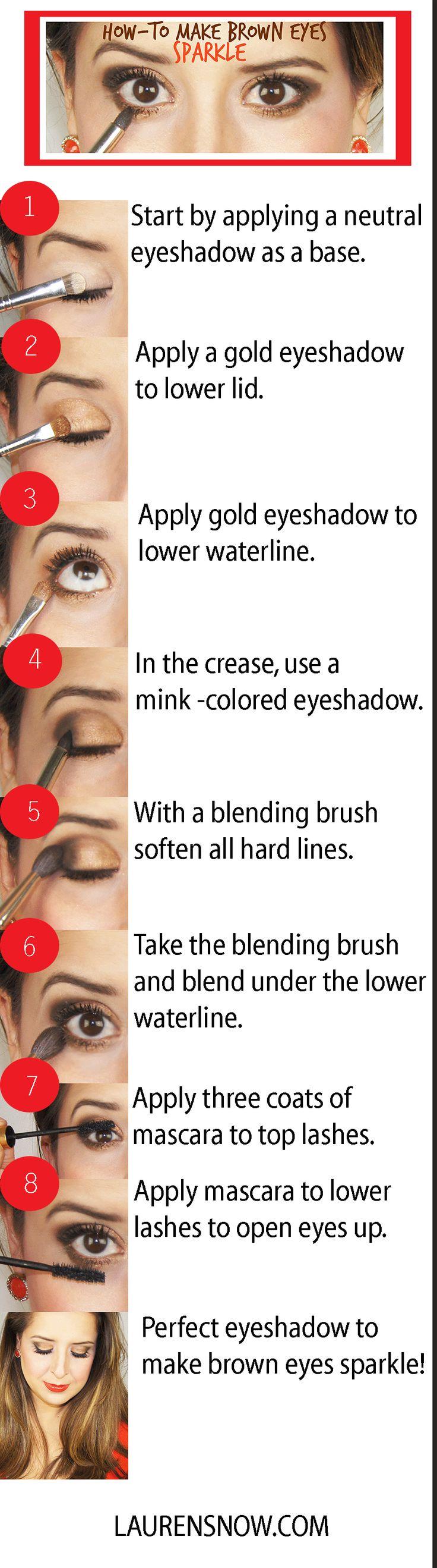 Eyeshadow for brown eyes