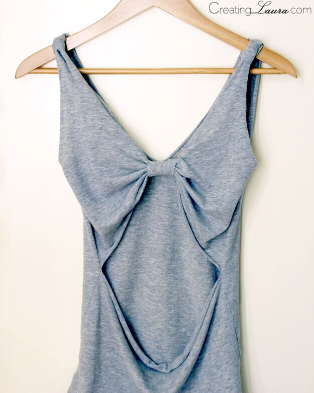 Open-back tank top