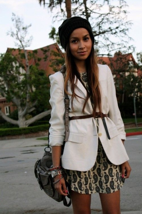 STYLES blazer with a dress
