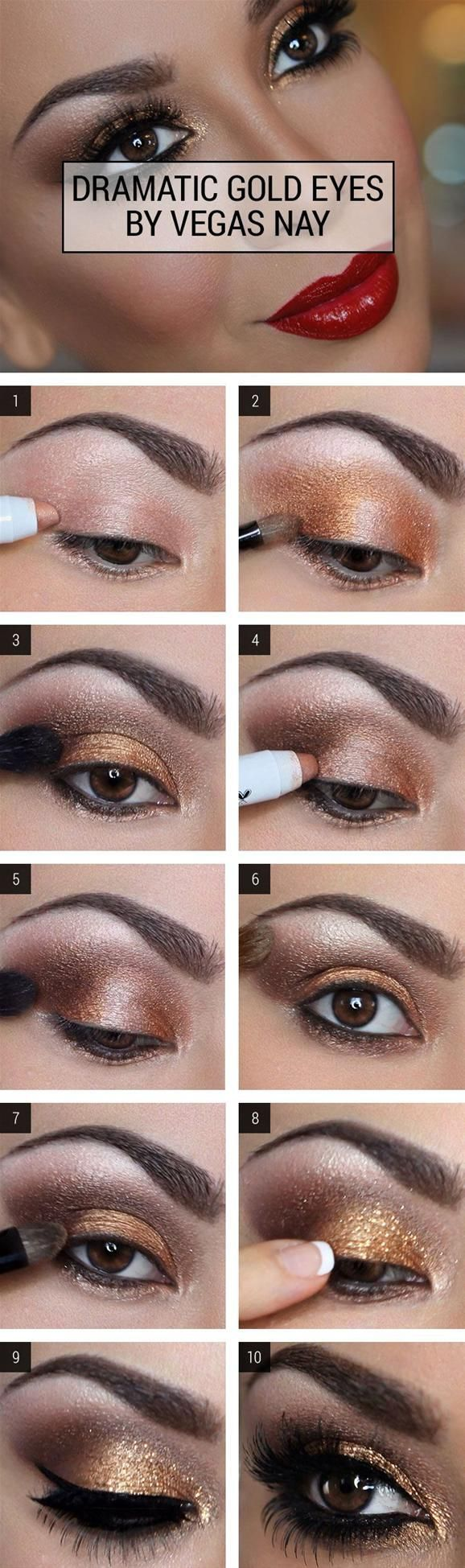 27 pretty makeup tutorials for brown eyes | styles weekly