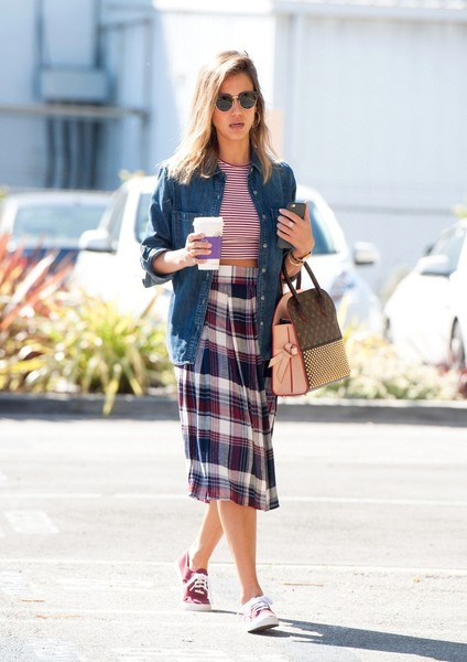 WAYF plaid skirt