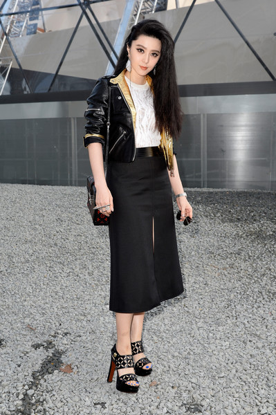Black Louis Vuitton A-line skirt